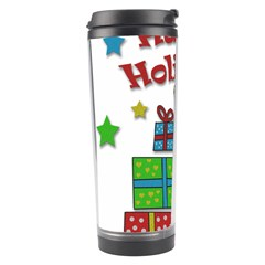 Happy Holidays   Gifts And Stars Travel Tumbler by Valentinaart