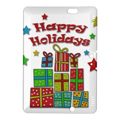 Happy Holidays   Gifts And Stars Kindle Fire Hdx 8 9  Hardshell Case by Valentinaart