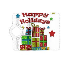 Happy Holidays   Gifts And Stars Kindle Fire Hd (2013) Flip 360 Case by Valentinaart