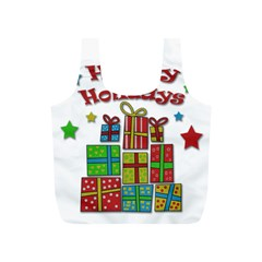 Happy Holidays   Gifts And Stars Full Print Recycle Bags (s)  by Valentinaart