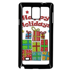 Happy Holidays   Gifts And Stars Samsung Galaxy Note 4 Case (black) by Valentinaart