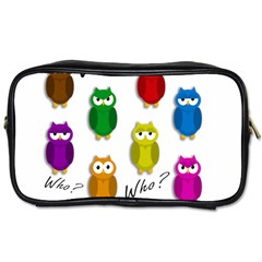 Cute Owls   Who? Toiletries Bags by Valentinaart