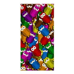 Cute Owls Mess Shower Curtain 36  X 72  (stall)  by Valentinaart