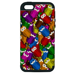 Cute Owls Mess Apple Iphone 5 Hardshell Case (pc+silicone) by Valentinaart