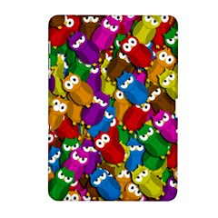 Cute Owls Mess Samsung Galaxy Tab 2 (10 1 ) P5100 Hardshell Case  by Valentinaart