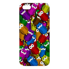 Cute Owls Mess Iphone 5s/ Se Premium Hardshell Case by Valentinaart