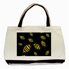Decorative Bees Basic Tote Bag (two Sides) by Valentinaart
