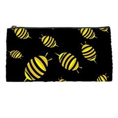 Decorative Bees Pencil Cases by Valentinaart
