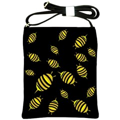 Decorative Bees Shoulder Sling Bags by Valentinaart