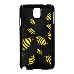 Decorative Bees Samsung Galaxy Note 3 Neo Hardshell Case (black) by Valentinaart
