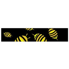 Decorative Bees Flano Scarf (small) by Valentinaart