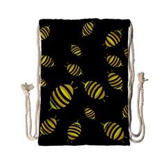 Decorative Bees Drawstring Bag (small) by Valentinaart
