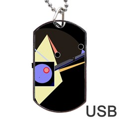 Construction Dog Tag Usb Flash (one Side) by Valentinaart