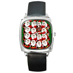 Did You See Rudolph? Square Metal Watch by Valentinaart