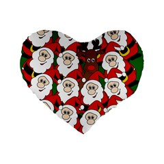 Did You See Rudolph? Standard 16  Premium Heart Shape Cushions by Valentinaart