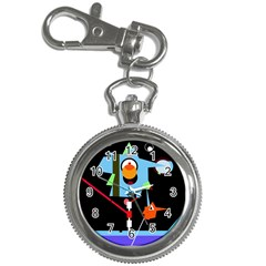 Abstract Composition  Key Chain Watches by Valentinaart