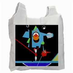 Abstract Composition  Recycle Bag (one Side) by Valentinaart
