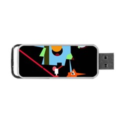 Abstract Composition  Portable Usb Flash (two Sides) by Valentinaart
