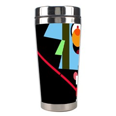 Abstract Composition  Stainless Steel Travel Tumblers by Valentinaart