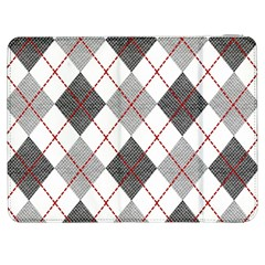 Fabric Texture Argyle Design Grey Samsung Galaxy Tab 7  P1000 Flip Case by AnjaniArt