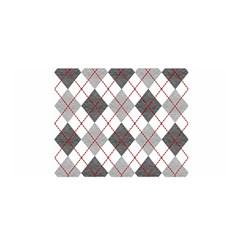 Fabric Texture Argyle Design Grey Satin Wrap by AnjaniArt