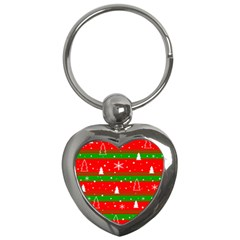 Xmas Pattern Key Chains (heart)  by Valentinaart