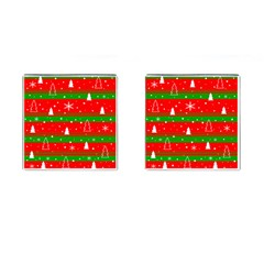 Xmas Pattern Cufflinks (square) by Valentinaart