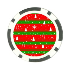 Xmas Pattern Poker Chip Card Guards (10 Pack)  by Valentinaart
