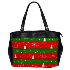Xmas Pattern Office Handbags by Valentinaart