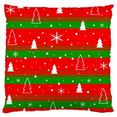 Xmas Pattern Large Cushion Case (one Side) by Valentinaart