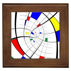 Swirl Grid With Colors Red Blue Green Yellow Spiral Framed Tiles by designworld65