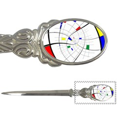 Swirl Grid With Colors Red Blue Green Yellow Spiral Letter Openers by designworld65