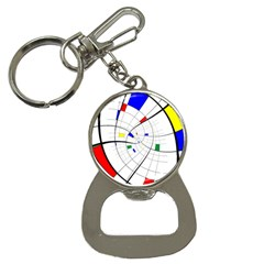 Swirl Grid With Colors Red Blue Green Yellow Spiral Bottle Opener Key Chains by designworld65