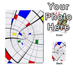 Swirl Grid With Colors Red Blue Green Yellow Spiral Multi Purpose Cards (rectangle)  by designworld65