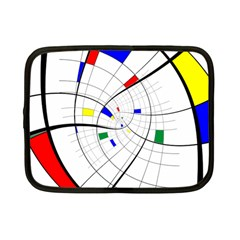 Swirl Grid With Colors Red Blue Green Yellow Spiral Netbook Case (small)  by designworld65