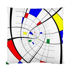 Swirl Grid With Colors Red Blue Green Yellow Spiral Standard Cushion Case (one Side) by designworld65