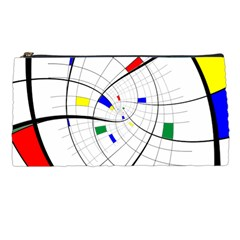 Swirl Grid With Colors Red Blue Green Yellow Spiral Pencil Cases by designworld65