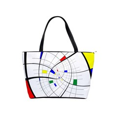 Swirl Grid With Colors Red Blue Green Yellow Spiral Shoulder Handbags by designworld65