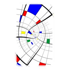 Swirl Grid With Colors Red Blue Green Yellow Spiral Memory Card Reader by designworld65