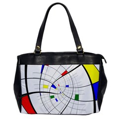 Swirl Grid With Colors Red Blue Green Yellow Spiral Office Handbags by designworld65