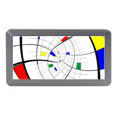 Swirl Grid With Colors Red Blue Green Yellow Spiral Memory Card Reader (mini) by designworld65