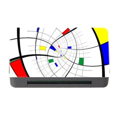Swirl Grid With Colors Red Blue Green Yellow Spiral Memory Card Reader With Cf by designworld65