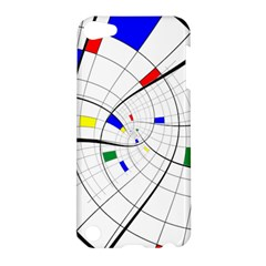 Swirl Grid With Colors Red Blue Green Yellow Spiral Apple Ipod Touch 5 Hardshell Case by designworld65