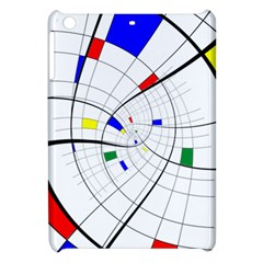 Swirl Grid With Colors Red Blue Green Yellow Spiral Apple Ipad Mini Hardshell Case by designworld65