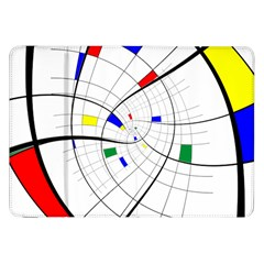 Swirl Grid With Colors Red Blue Green Yellow Spiral Samsung Galaxy Tab 8 9  P7300 Flip Case by designworld65