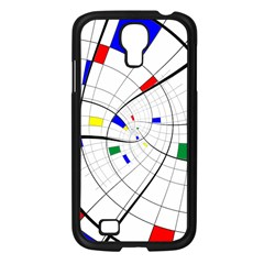 Swirl Grid With Colors Red Blue Green Yellow Spiral Samsung Galaxy S4 I9500/ I9505 Case (black) by designworld65