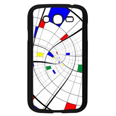 Swirl Grid With Colors Red Blue Green Yellow Spiral Samsung Galaxy Grand Duos I9082 Case (black) by designworld65