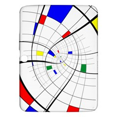 Swirl Grid With Colors Red Blue Green Yellow Spiral Samsung Galaxy Tab 3 (10 1 ) P5200 Hardshell Case  by designworld65
