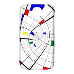 Swirl Grid With Colors Red Blue Green Yellow Spiral Samsung Galaxy S4 Classic Hardshell Case (pc+silicone) by designworld65