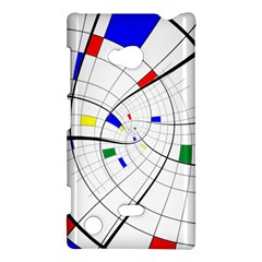 Swirl Grid With Colors Red Blue Green Yellow Spiral Nokia Lumia 720 by designworld65
